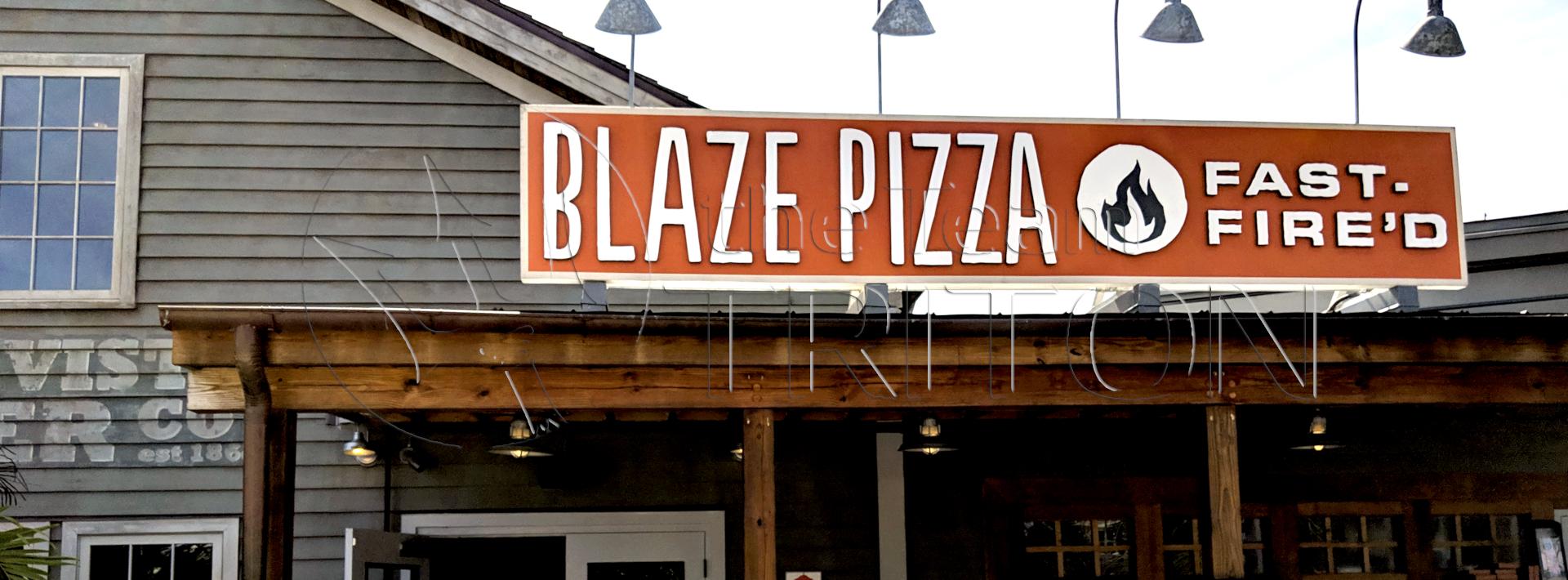 Disney Springs Blaze Pizza Exterior Marquee