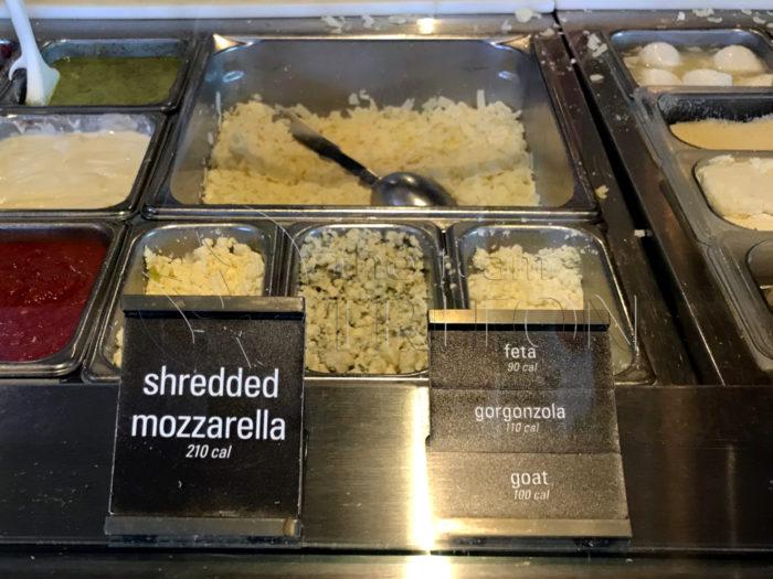 Blaze Pizza Choosing Cheese