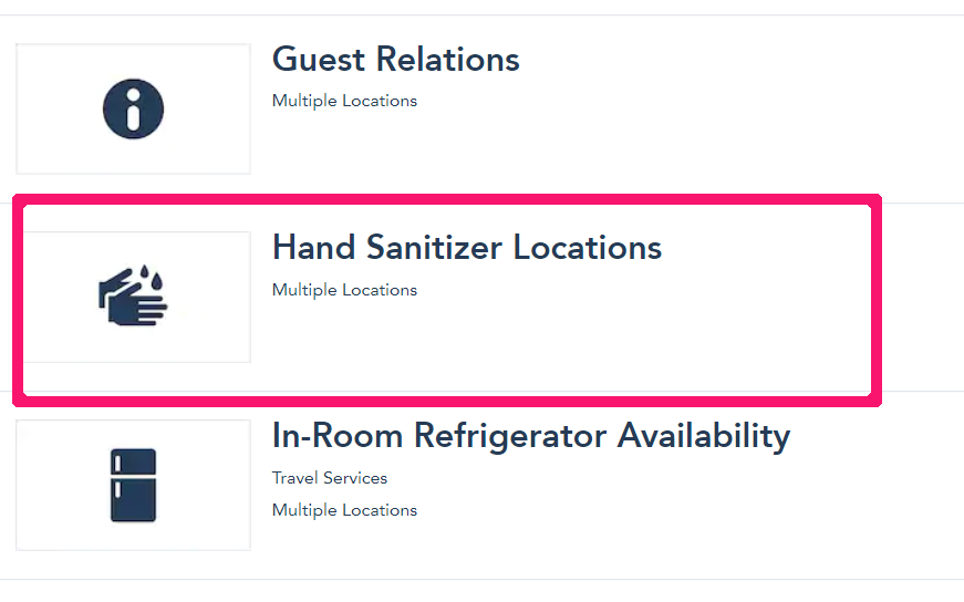 Hand Sanitizer Locations icon